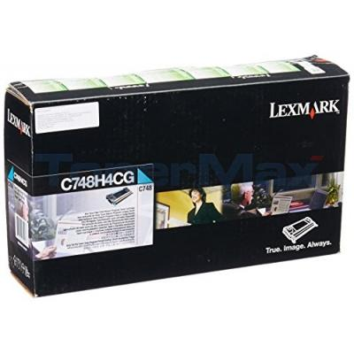 LEXMARK C748 RP TONER CART CYAN 10K TAA